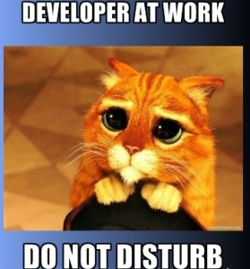Do not disturb your programmers!